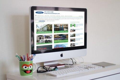 Giao diện web DailyOtoFordVietnam.com