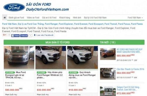 Tin đăng bán hàng trên DaiLyOtoFordVietnam.com được đồng bộ hóa từ MXH Mua Bán Nhanh