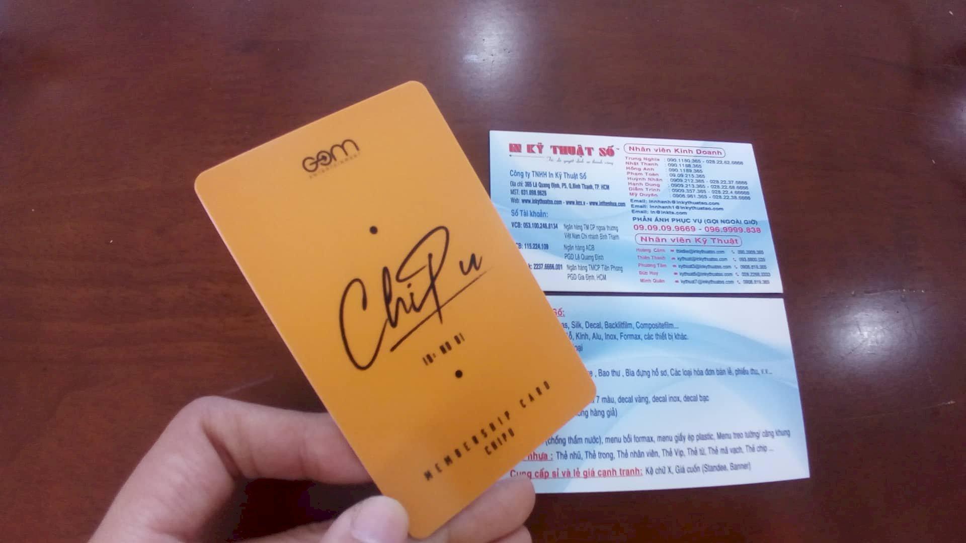 In thẻ nhựa Kpop, in thẻ nhựa idol, in thẻ nhựa hình ảnh đặt riêng theo yêu cầu tại công ty Vina Design