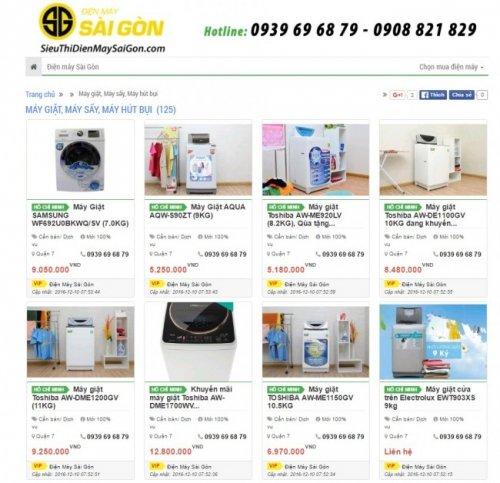 SieuThiDienMaySaiGon.com tính hợp những tính năng ưu việt của một web bán hàng chuẩn