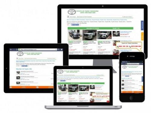 Giao diện web SalonToyotaSaiGon.com trên các thiết bị duyệt web