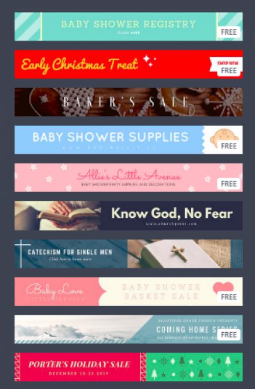 Các layout mẫu sẵn sàng cho bạn lựa chọn thiết kế băng rôn online dạng ngang