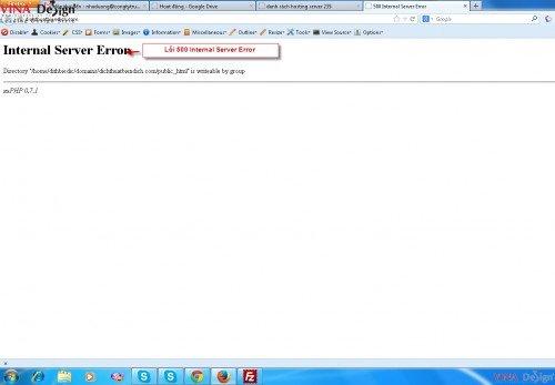Hướng dẫn sử dụng wordpress, các lỗi thường gặp, lỗi 500 Internal Server Error