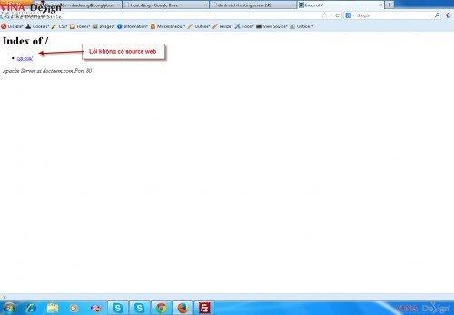 các lỗi thường gặp, lỗi mất source website