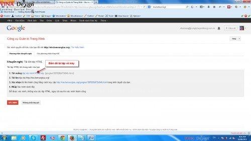 Hướng dẫn cài đặt wordpress, Google Webmaster Tools