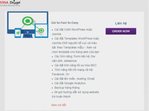 Gói thiết kế web So Fast So Easy