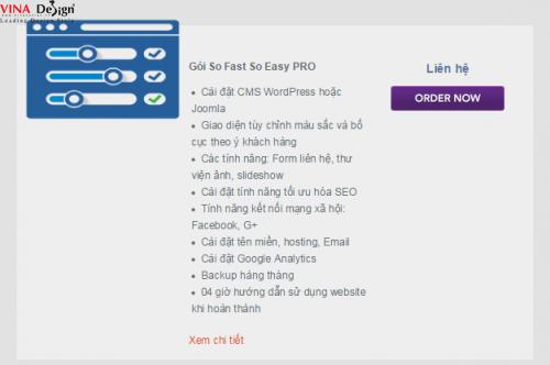 Gói thiết kế web So Fast So Easy PRO