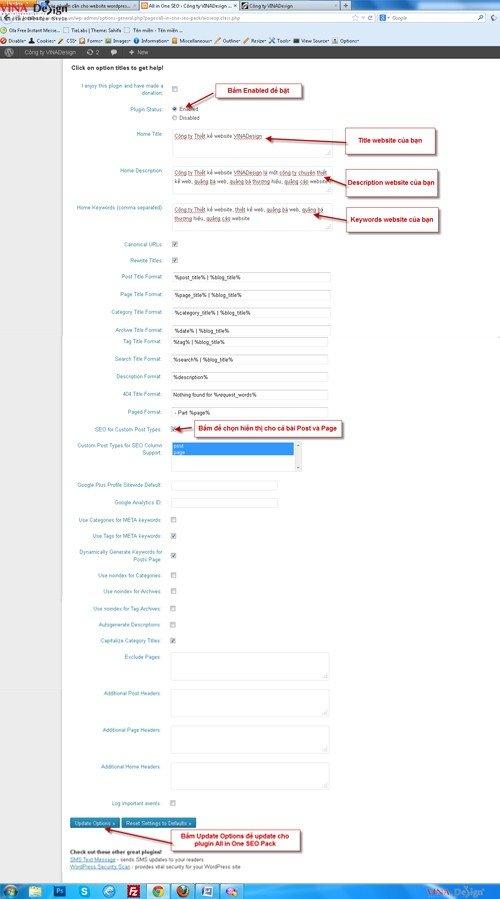 Cài đặt plugin wordpress, hướng dẫn cài plugin All in One Seo Pack