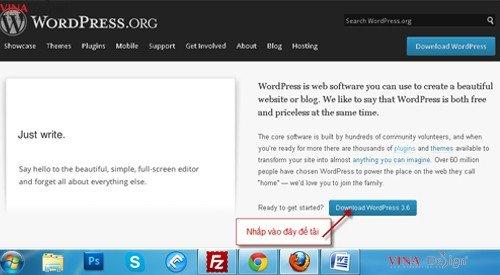 Hướng dẫn cài đặt wordpress, tải wordpress, download wordpress