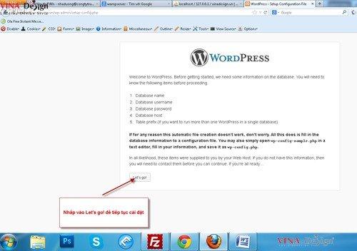 Hướng dẫn cài đặt wordpress, hướng dẫn tạo file wp-config wordpress