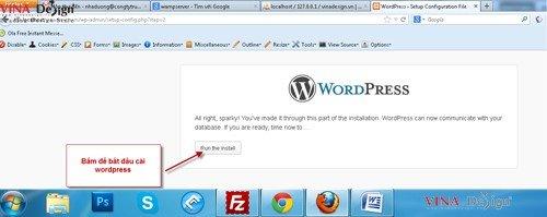 Hướng dẫn cài đặt wordpress, cài đặt wordpress