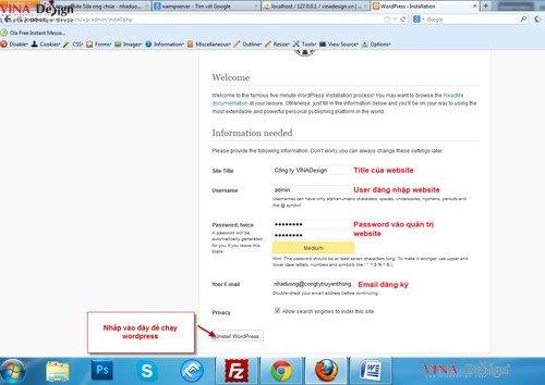 Hướng dẫn cài đặt wordpress, hướng dẫn cấu hình site wordpress