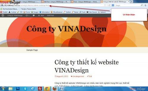 Hướng dẫn cài đặt wordpress, Link thân thiện trong wordpress