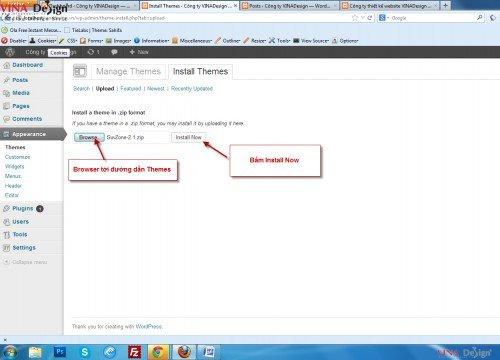 Hướng dẫn cài đặt wordpress, Cài đặt template wordpress