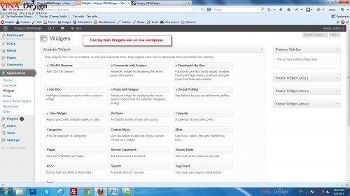 Tạo sidebar menu trong wordpress