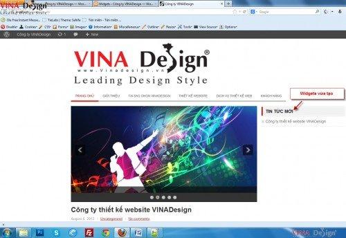 Tạo sidebar Recent Posts, hướng dẫn thiết kế website
