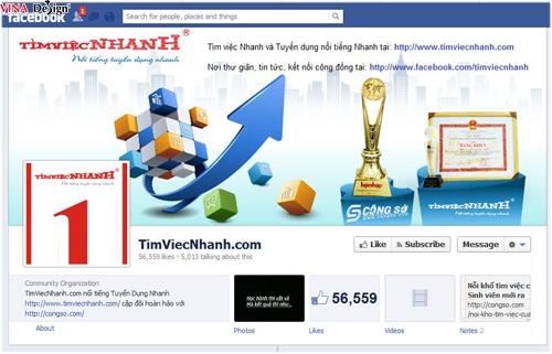 Tìm Việc Nhanh Fanpage Facebook