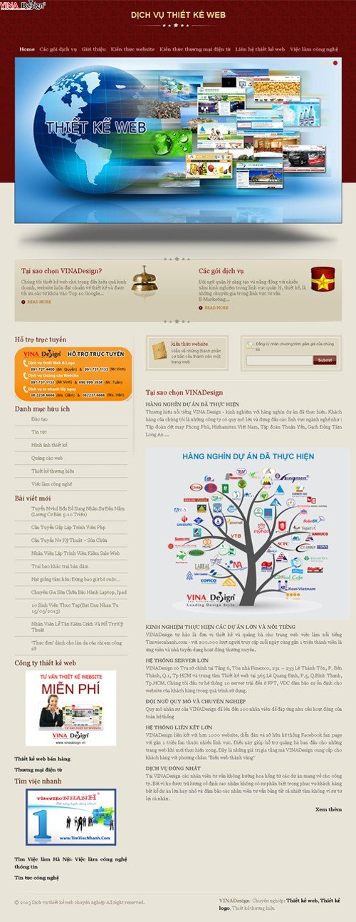 Thiết kế web, dịch vụ thiết kế web chuyên nghiệp